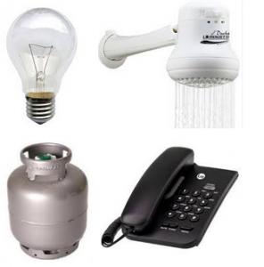 luz agua telefone gas